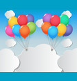 balloon sky background vector image vector image