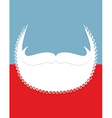 Beard and mustache Christmas Santa Claus vector image vector image