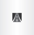 black square highway auto road icon vector image