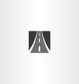 black square highway auto road icon vector image vector image