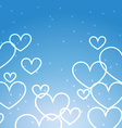 blue background with multiples hearts vector image