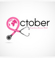 breast cancer october awareness month campaign vector image