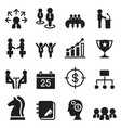 business management icons set vector image vector image