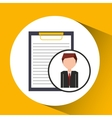 businessman character clipboard concept vector image