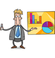businessman presentation cartoon vector image vector image