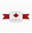 Canada Day festive Label with Ribbon vector image vector image