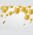 celebration party banner with gold balloons vector image vector image