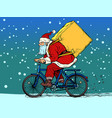 christmas delivery gifts and purchases santa vector image vector image