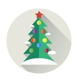 Christmas tree flat icon vector image