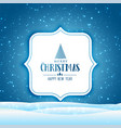 christmas winter scene with falling snow vector image vector image