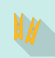 clothes wood clip icon flat style vector image