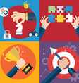 collection of flat and colorful business strategy vector image vector image