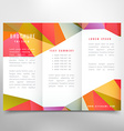 colorful trifold brochure design vector image vector image