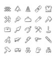 construction tools icons set vector image