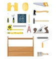 construction tools set Carpentry instruments vector image