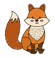 cute and tender fox vector image vector image