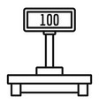 digital post scales icon outline style vector image vector image