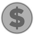 dollar silver coin vector image vector image