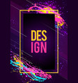 dynamic futuristic modern flyer or party frame art vector image
