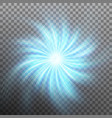 effect of star with flare light with transparency vector image