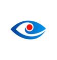 eye optic logo vector image vector image