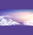 fantasy sky beautiful fairy skies fantastic vector image