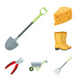 farm and gardening cartoon icons in set collection vector image vector image