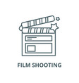 film shooting line icon linear concept vector image vector image