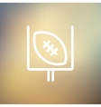Football poster thin line icon vector image vector image