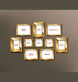 frames for photos or paintings vector image vector image