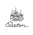 hand draw easter vector image vector image