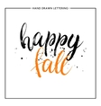 Happy fall text with black splashes vector image vector image