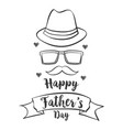happy father day hand draw celebration vector image vector image