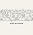 happy halloween banner concept vector image vector image
