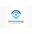 human energy creative symbol medical concept vector image