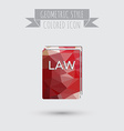 icon book of the law set of laws symbol of justice vector image vector image