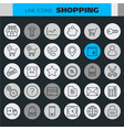 inline shopping icons collection vector image