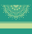 islamic or indian floral medallion background vector image
