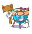judge cartoon timpani isolated on mascot vector image vector image