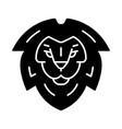 lion head symbol glyph icon vector image