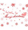 merry cristmas vector image