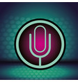 microphone sign icon vector image vector image