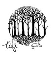mysterious forest vector image