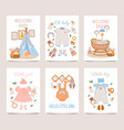 nursery decor posters baby shower cards for boy vector image vector image
