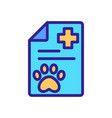 pet clinic icon isolated contour symbol vector image vector image