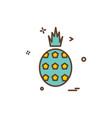 pineapple icon design vector image vector image