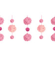 pink birthday party paper pom poms set vector image