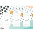 Planner calendar Schedule the week abstract design vector image vector image