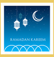 ramadan kareem islamic greeting card design in vector image