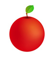 Red Apple Icon vector image vector image